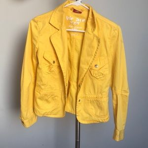 Yellow Jean jacket!
